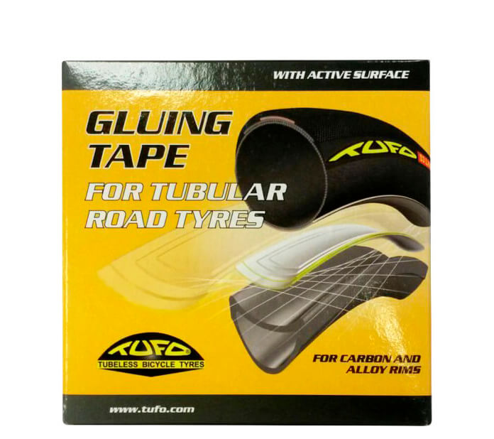 Gluing tape for tubular road tyres